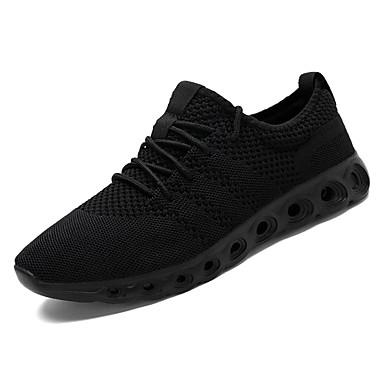 Bărbați Pânză Vară Confortabili Adidași de Atletism Alergare Negru / Rosu / Negru / Alb