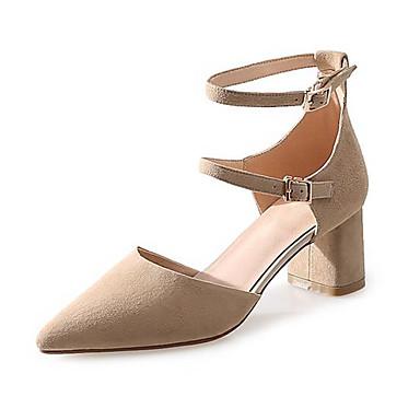Bout Chaussures Daim Femme Boucle Eté Confort pointu Sandales Vert Chair Talon Noir 06768582 Bottier ZqC0f