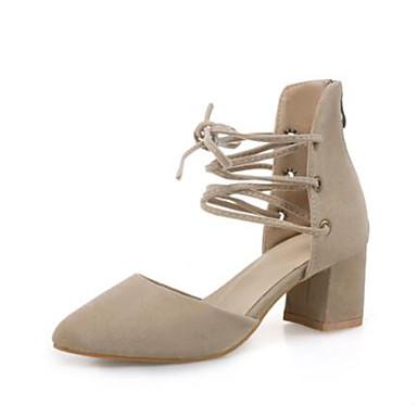 06728538 Beige Talon Bout Gris Talons Femme Basique à Nubuck été Printemps Chaussures Escarpin Confort Bottier Cuir pointu Chaussures Ruban WWPOqavwU