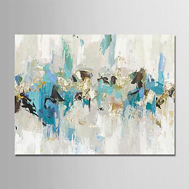 billige Veggkunst-Hang malte oljemaleri Håndmalte - Abstrakt Moderne Uten Indre Ramme / Valset lerret