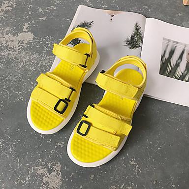 Negro Tobillo Mujer Tacón el PU verano Zapatos en Sandalias Tira Amarillo Hebilla Plano Rojo Primavera 06770163 w00Hq7xnSa