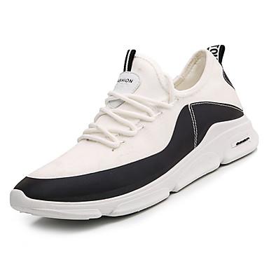 Men's Mesh Spring &  Fall Comfort Athletic Block Shoes Walking Shoes Color Block Athletic White / Black 7e2253