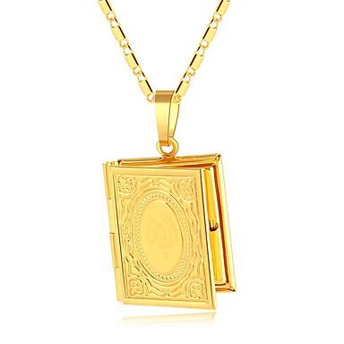 billige Mote Halskjede-Dame Anheng Halskjede Tykk kjede Medaljong damer Vintage Etnisk Kobber Gull Sølv 50 cm Halskjeder Smykker 1pc Til Fest Gave