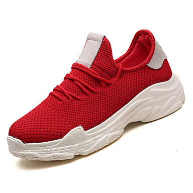 Men's Shoes Mesh Summer Comfort Athletic Shoes Men's Walking Shoes White / Red / Black / Green 6ed745