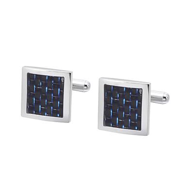 Frugale Di Forma Geometrica - Cubi Blu - Dorato Gemelli Rame Classico - Casual Tutti Bigiotteria Per Regalo #06767577 Lucentezza Luminosa