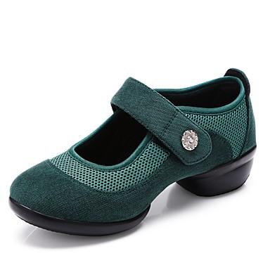 baratos Shall We® Sapatos de Dança-Mulheres Sintéticos Tênis de Dança Recortes Têni Salto Grosso Personalizável Verde