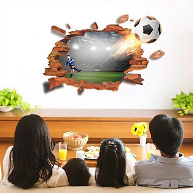 Autocolante de Perete Decorative - 3D Acțibilduri de Perete Fotbal / #D Sufragerie / Dormitor / Baie