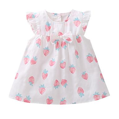 cheap Baby & Toddler Girl-Baby Girls' Active Fruit Sleeveless Polyester Dress White