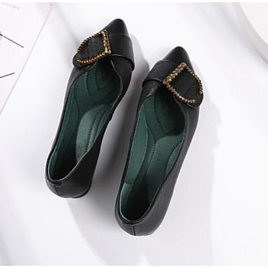 Eté et D6148 Chaussons Nappa 06766722 Talon fermé Bout Chaussures Beige Cuir Plat Femme Noir Confort Mocassins BYqtnx