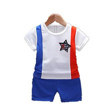 Bebelus Băieți Activ Bloc Culoare Manșon scurt Set Îmbrăcăminte / Copil