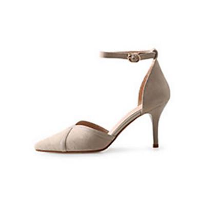 Automne Confort Basique Chair Aiguille Escarpin Chaussures Microfibre Talon Talons Femme Chaussures à Printemps Noir 06766393 Rose tIqFwT44x