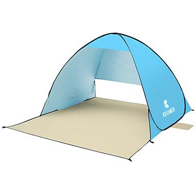 KEUMER 2 الأشخاص خيمة للشاطئ في الهواء الطلق خفة الوزن مقاوم للأشعة فوق البنفسجية التنفس إمكانية طبقة واحدة خيمة التخييم 1500-2000 mm إلى صيد السمك شاطئ Camping / Hiking / Caving فضية الشريط