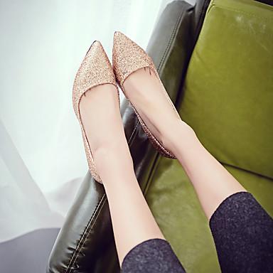Chaussures Aiguille 06720480 Talons Marche Eté Argent Talon à Polyuréthane Paillette Noir Basique Escarpin Femme pointu Bout Rouge Chaussures BFwndqABS