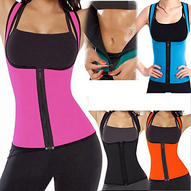 Body Shaper Sweat Waist Trainer Corset Shapewear Neoprene Zipper Compression Stretchy Weight Loss Tummy Fat Burner Abdominal Toning Yoga Exercise & Fitness Gym Workout For Abdomen Belly