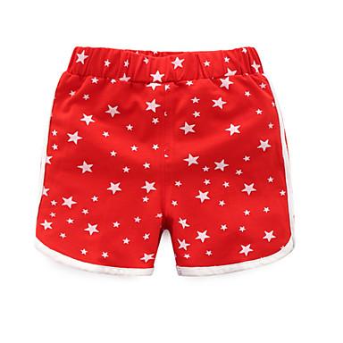 Preciso Bambino Da Ragazzo Attivo Quotidiano - Sport Cielo Stellato Con Stampe Cotone - Elastene Pantaloncini Rosso - Bambino (1-4 Anni) #06737524