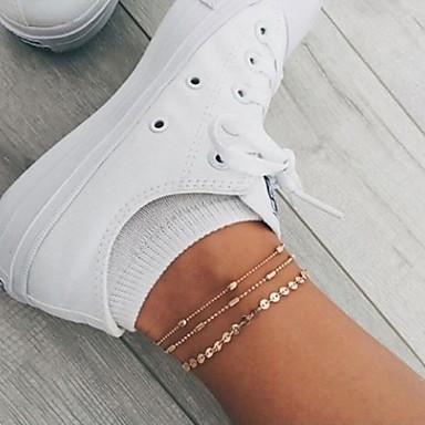 voordelige Lichaamssieraden-Dames Meerlaags Enkelband voeten sieraden Traan Dames Casual / Sporty Koreaans Enkelring  Sieraden Goud / Zilver Voor Lahja Dagelijks Straat