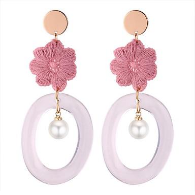 Pentru femei Cercei Picătură - Imitație de Perle Stilat Gri / Roz Pentru Party / Seara / Ieșire