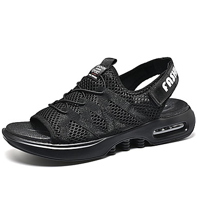 cheap Featured Deals-Men's Comfort Shoes Mesh Spring & Summer Casual Sandals Breathable Black