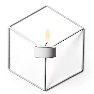 Modern / Contemporan Fier Suporturi Lumânări Sfeșnic 1 buc, Lumânare / Suport pentru lumânări