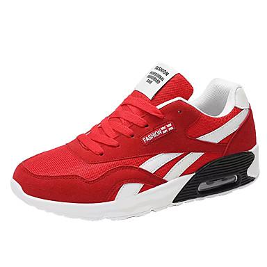 Pentru femei Pantofi Tul / PU Vară Confortabili Adidași de Atletism Alergare Toc Drept Vârf rotund Negru / Gri / Rosu