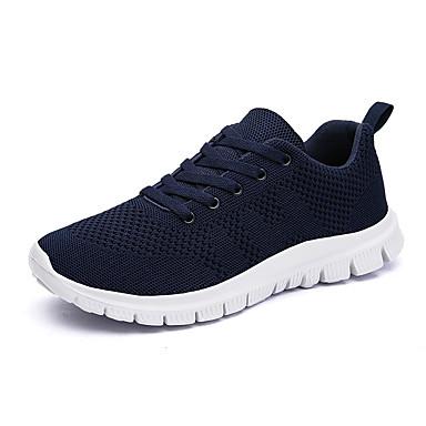 Bărbați Tul Primăvara & toamnă Confortabili Adidași de Atletism Plimbare Negru / Albastru