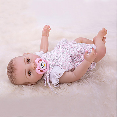 OtardDolls Păpuși Renăscute Bebe Fetiță 16 inch Silicon - Nou nascut natural Confecționat Manual Siguranță Copii Non Toxic Interacțiunea părinte-copil Lui Kid Fete Jucarii Cadou