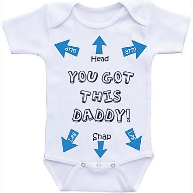 3c9c05da7f6 Μωρό Αγορίστικα Βασικό Καθημερινά Στάμπα Εκτύπωση Κοντομάνικο Βαμβάκι  Κορμάκι Λευκό