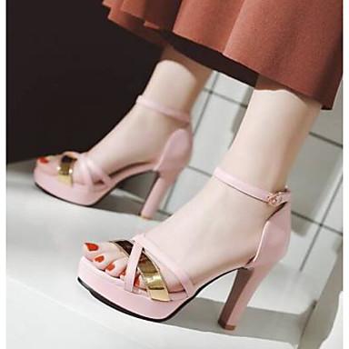 06769620 Stiletto Mujer Confort Blanco Negro Zapatos Tacón Rosa Sandalias Verano PU Fx1qFO