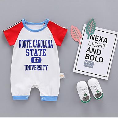Bebelus Unisex Activ Imprimeu Mânecă scurtă O - piesă