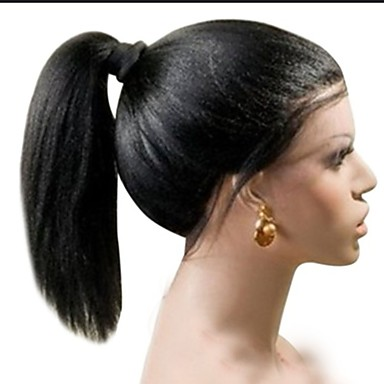 Synthetic Lace Front Wig Women S Straight Black Layered Haircut