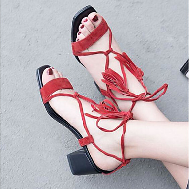 Talon Eté Nappa 06771034 Confort Femme Chaussures Noir Bout Cuir Bottier Rouge fermé Sandales EtRxxHYq