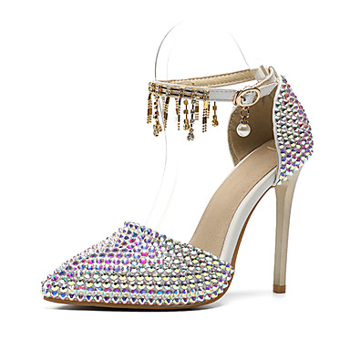01c4c67159 Women's Shoes PU(Polyurethane) Fall & Winter D'Orsay & Two-Piece Wedding  Shoes Stiletto Heel Pointed Toe Rhinestone / Sparkling Glitter / Buckle  Rainbow ...