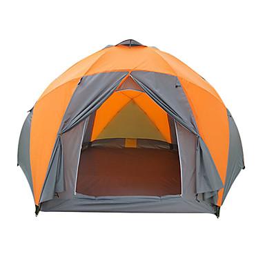 8 pessoas Ao ar livre Prova-de-Água Á Prova-de-Chuva Á Prova de Humidade Respirabilidade Poste Dome Dois Quartos Dupla Camada 2000-3000 mm Barraca de acampamento para Equitação Campismo Viajar