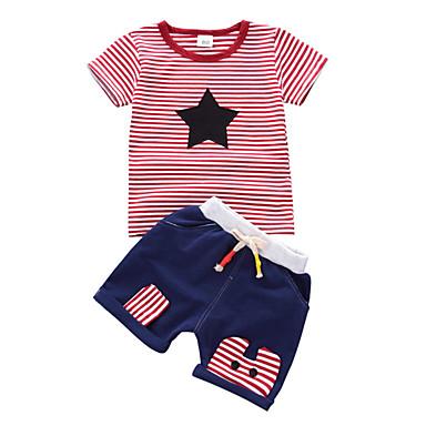 Bebelus Băieți Dungi Manșon scurt Set Îmbrăcăminte