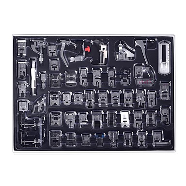 cheap Tool Sets-52Pcs Sewing machine presser foot, suitable for brothers, Babylock, Erna, Toyota, new home, singer, Janome, simple, Necchi, Kenmore and white low-handle sewing machine