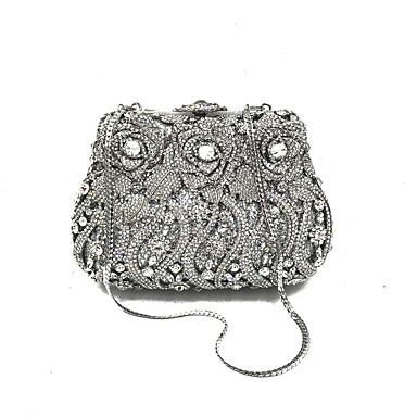 Pentru femei Genți Perle Geantă Seară Detalii Cristal Argintiu