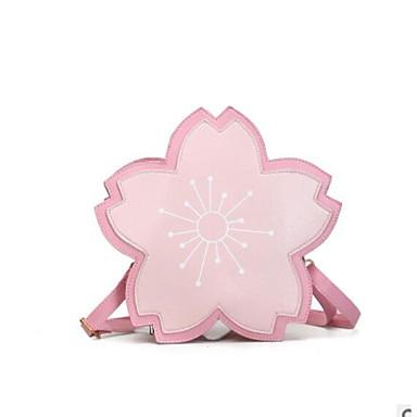 Pentru femei Genți PU Umăr Bag Fermoar / Flori Roz Îmbujorat