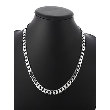 Muškarci Lančići Kubanska veza Zavrnuto Lanac kutije Jednostavan Osnovni Moda Kamen Glina Pink 50 cm Ogrlice Jewelry 1pc Za Dnevno Ulica