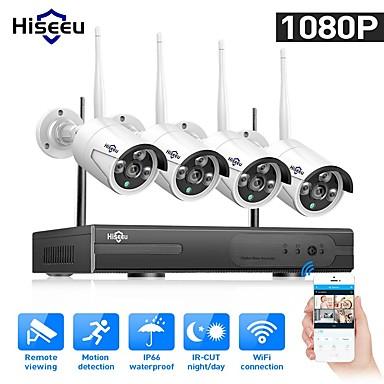 povoljno Elektronička oprema-hiseeu 1080p bežični CCTV sustav hdd 2mp 4ch snažan nvr ir-cut cctv kamera IP sigurnosni sustav nadzor setove