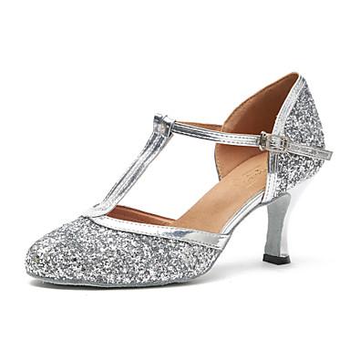 Cordiale Per Donna Scarpe Per Danza Moderna Vernice Sneaker Lustrini Tacco Cubano Scarpe Da Ballo Oro - Nero - Argento #06759728