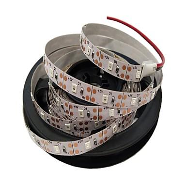 5m Fâșii De Becuri LEd Flexibile 300 LED-uri 2835 SMD Roșu / Albastru Ce poate fi Tăiat / USB / Decorativ 5 V 1 buc
