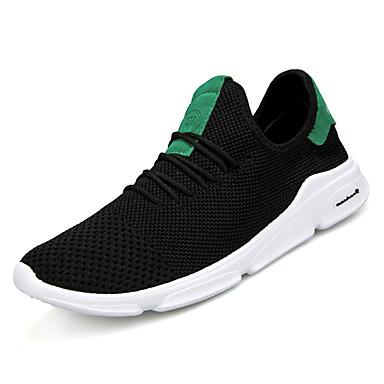 973ff246e1da Ανδρικά Παπούτσια άνεσης Πλεκτό   Πανί Καλοκαίρι Αθλητικά Παπούτσια Τρέξιμο  Λευκό   Μαύρο   Μαύρο