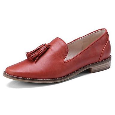 Chaussons Confort Talon Cuir D6148 et Mocassins 06771081 Nappa Printemps Rouge Bas Chaussures Femme O0IqBB