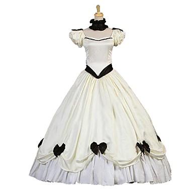 Cosplay Lolita Βικτωριανής Εποχής Costume Pentru femei Rochii Mascaradă Cristal Vintage Cosplay Satin Elastic Manșon scurt Mâneci Bufante Costume de Halloween