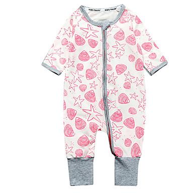Bebelus Unisex De Bază Buline Manșon Lung Poliester O - piesă Roz Îmbujorat 90