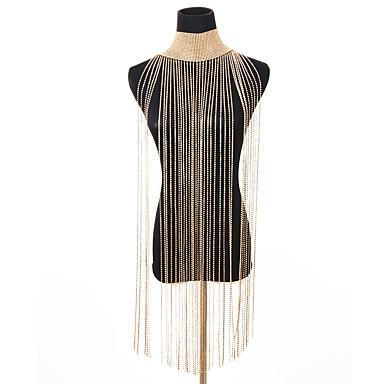 billige Mode Halskæde-Dame Krave Lang Erklæring Damer Vintage Legering Guld Sølv 28 cm Halskæder Smykker 1pc Til Fest Bikini