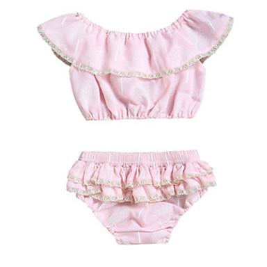 Bebelus Fete Activ Imprimeu Fără manșon Scurt Bumbac Set Îmbrăcăminte