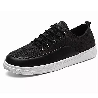 Muškarci PU Proljeće Udobne cipele Sneakers Crn / Bež