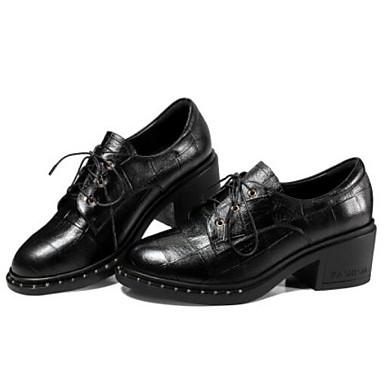 Confort Noir Femme Chaussures Cuir fermé Bottier Printemps Eté Rouge Talon 06833106 Oxfords Bout Nappa gXgBCwxPq