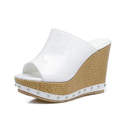 Nappa Blanc Eté 06777113 Femme Sandales Hauteur compensée Confort semelle de Argent Cuir Chaussures REOwqOv